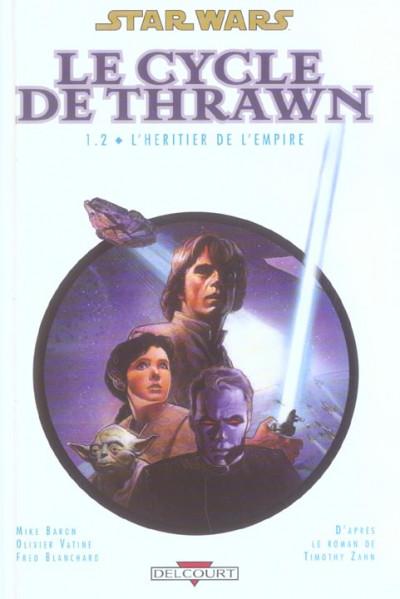 Couverture star wars - le cycle de thrawn tome 1.2 - l'héritier de l'empire