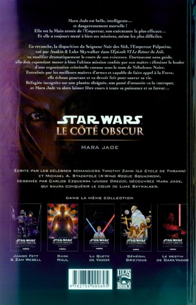 Dos star wars - le cote obscur tome 6 - mara jade