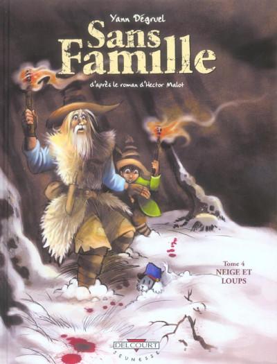Couverture sans famille tome 4 - neige et loups
