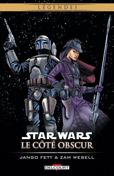 Couverture star wars - le côté obscur tome 1 - jango fett & zam wesell