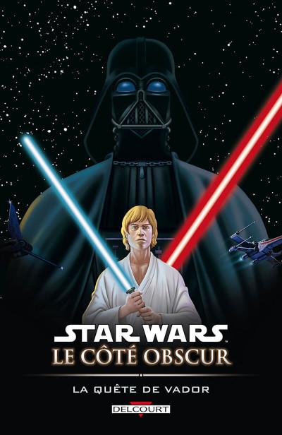 Couverture star wars - le côté obscur tome 3 - la quête de vador
