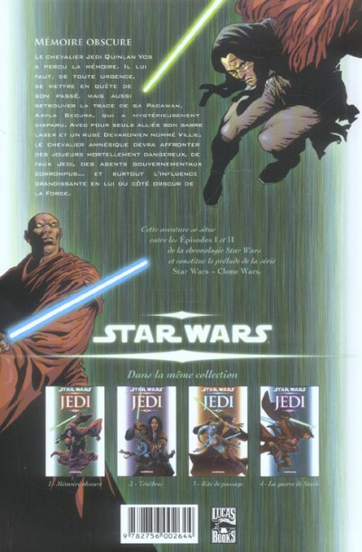 Dos star wars - jedi tome 1 - mémoire obscure