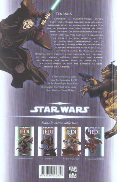 Dos star wars - jedi tome 2 - ténèbres