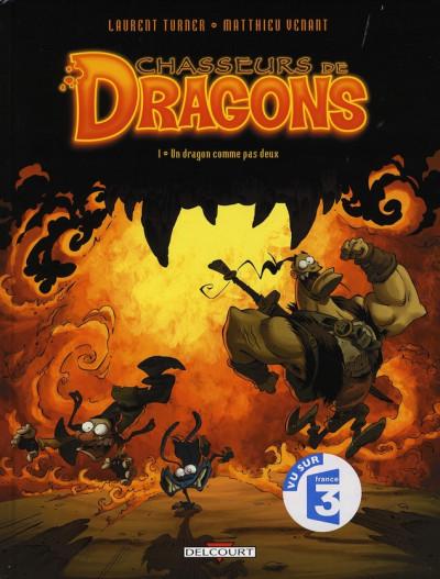 Couverture chasseurs de dragons tome 1 - un dragon comme pas deux