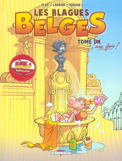 Couverture les blagues belges tome 1 - tome une fois