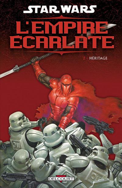 Couverture star wars - l'empire écarlate tome 2 - héritage