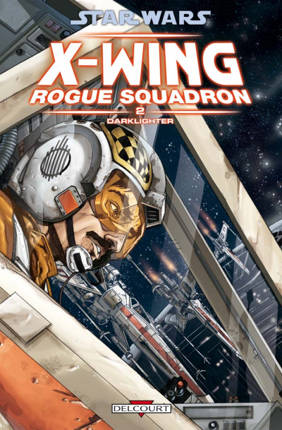 Couverture star wars - x-wing rogue squadron tome 2 - darklighter