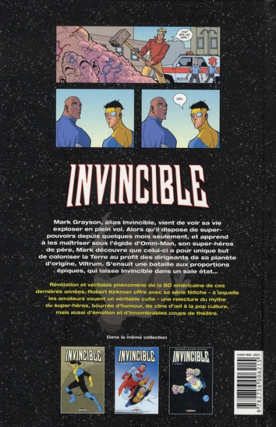 Dos invincible tome 3 - la relève