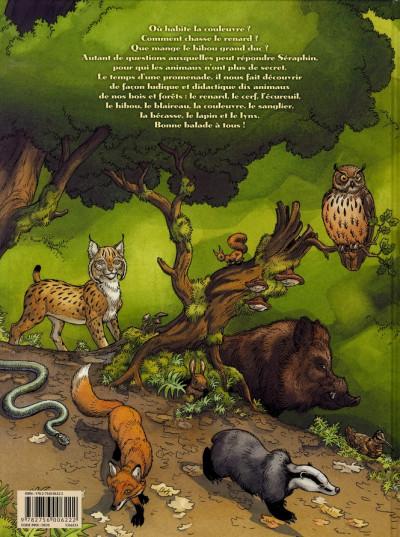 Dos séraphin le lutin et les animaux de la forêt