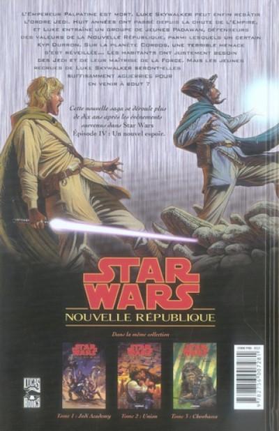Dos star wars - nouvelle république tome 1 - jedi academy