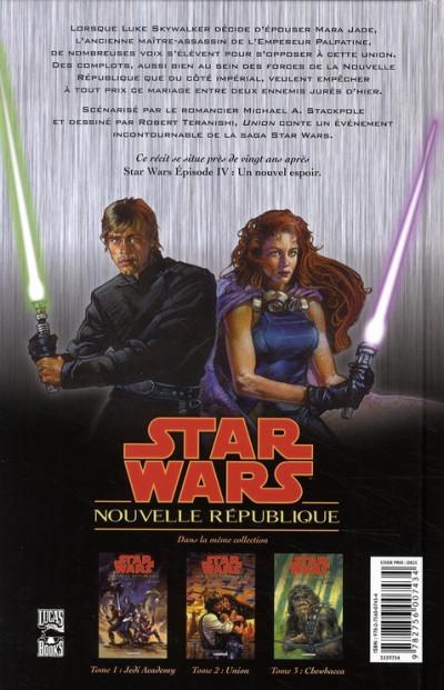Dos star wars - nouvelle république tome 2 - union