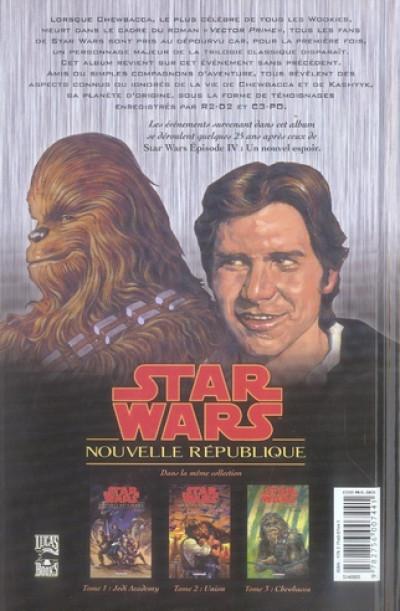 Dos star wars - nouvelle république tome 3 - chewbacca