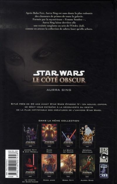 Dos star wars - le côté obscur tome 8 - aurra sing