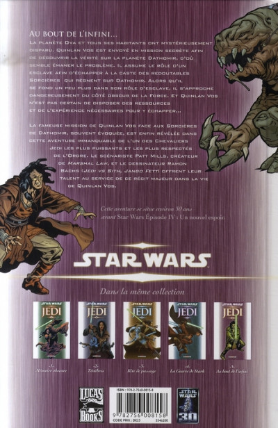 Dos star wars - jedi tome 5 - au bout de l'infini