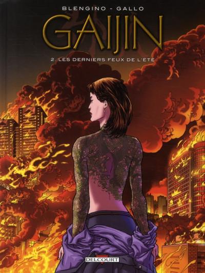 Couverture gaijin tome 2 - les derniers feux de l'été