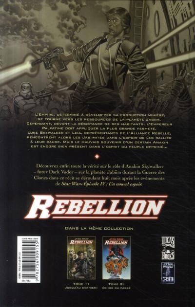 Dos star wars - rébellion tome 2 - échos du passé