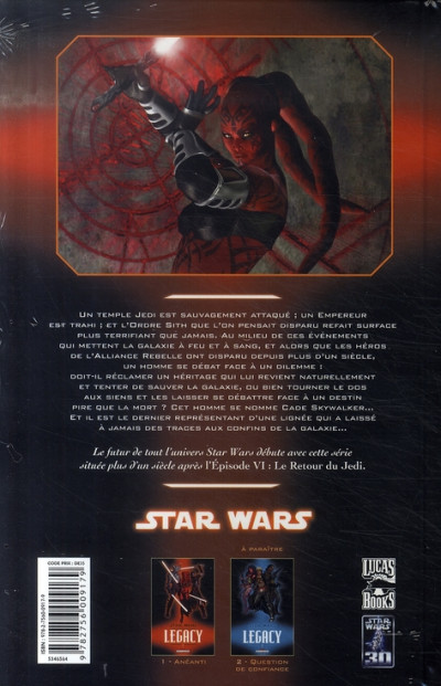 Dos star wars - legacy tome 1 - anéanti