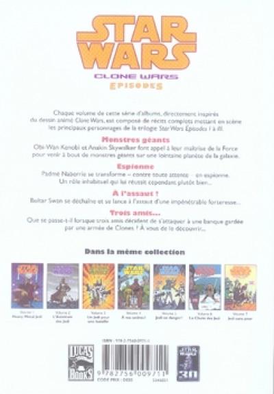 Dos star wars - clone wars episodes tome 7 - jedi sans peur
