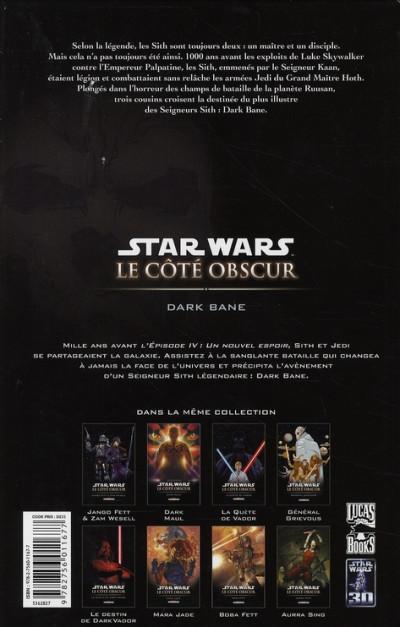 Dos star wars - le côté obscur tome 9 - dark bane