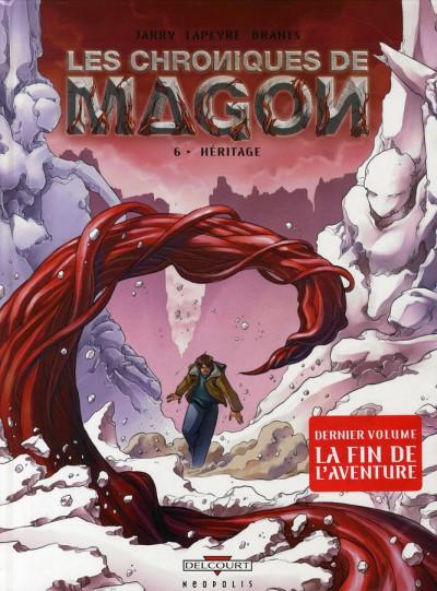 Couverture les chroniques de magon tome 6 - héritage