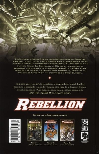 Dos star wars - rébellion tome 3 - du mauvais côté