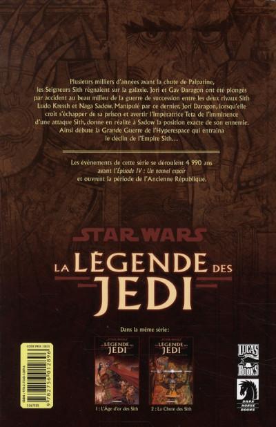 Dos Star wars - la légende des jedi tome 2