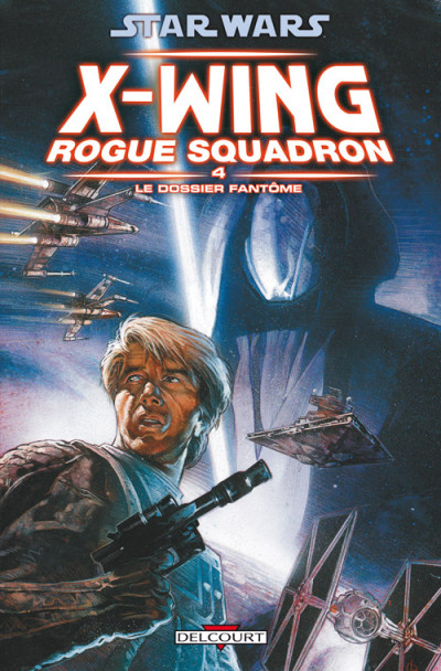 Couverture star wars - x-wing rogue squadron tome 4 - le dossier fantôme