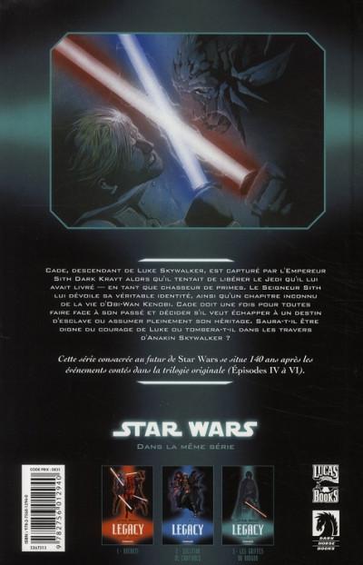 Dos star wars - legacy tome 3 - les griffes du dragon