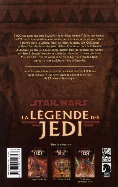 Dos Star wars - la légende des jedi tome 3