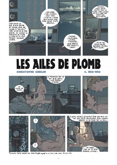 Page 1 les ailes de plomb tome 6 - neu-neu