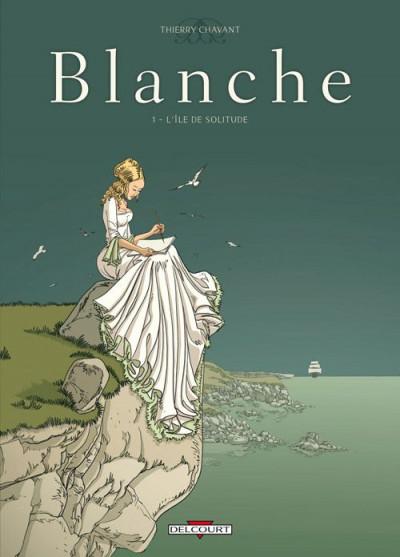 Couverture blanche tome 1 - l'île de solitude