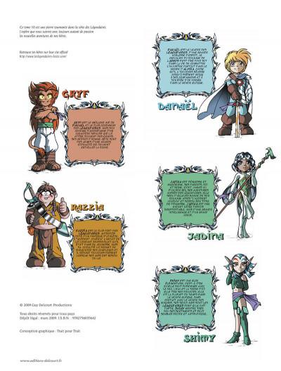 Page 3 Les légendaires tome 10