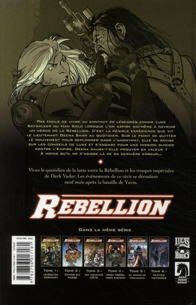 Dos star wars - rébellion tome 6 - petites victoires