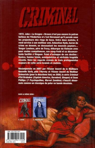 Dos criminal tome 3 - morts en sursis