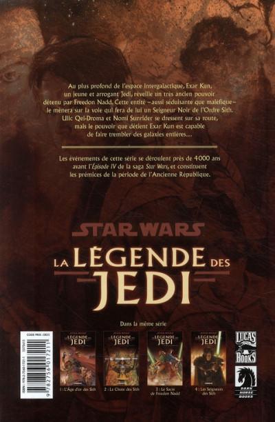Dos Star wars - la légende des jedi tome 4