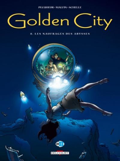 Couverture golden city tome 8 - les naufragés des abysses