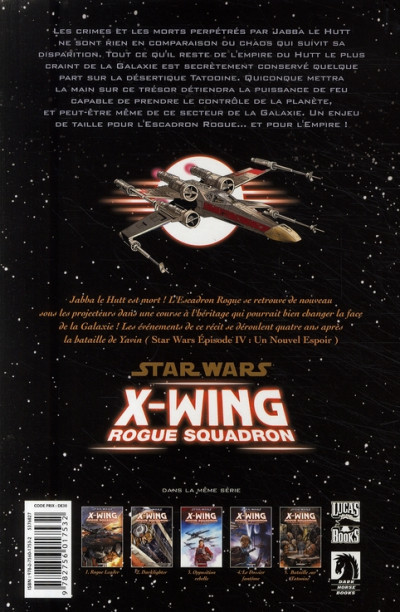 Dos star wars - x-wing rogue squadron tome 5 - bataille sur tatooine