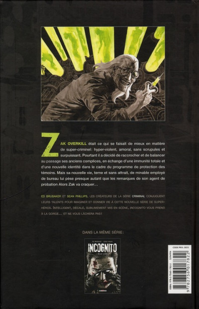 Dos incognito tome 1 - projet overkill