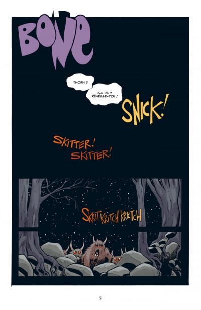 Page 1 bone tome 9 - la couronne d'aiguilles - couleur