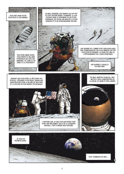 Page 2 la guerre secrète de l'espace tome 1 - 1957 spoutnik