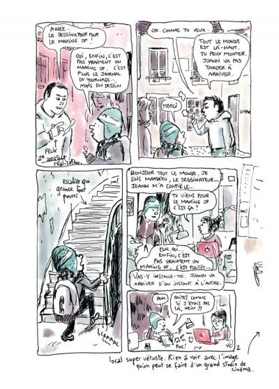 Page 2 feuille de chou tome 1 - journal de tournage