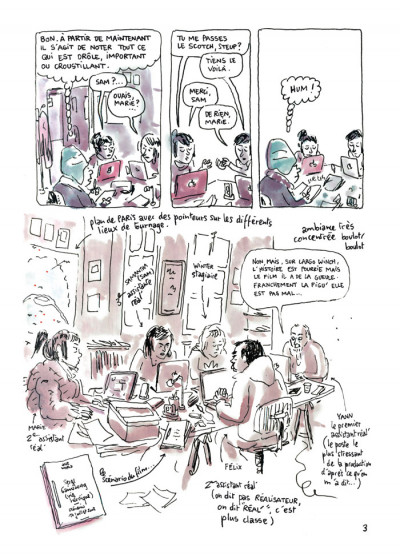 Page 3 feuille de chou tome 1 - journal de tournage