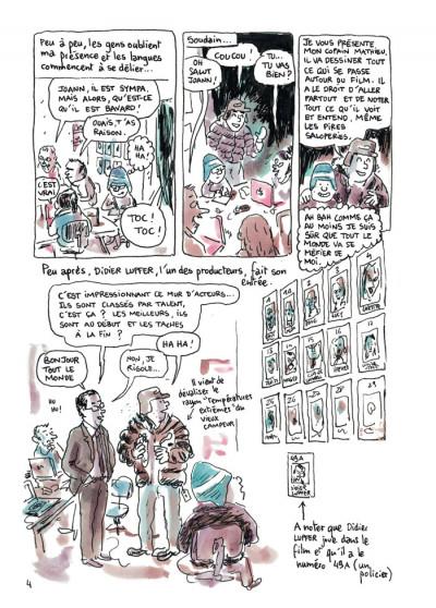 Page 4 feuille de chou tome 1 - journal de tournage