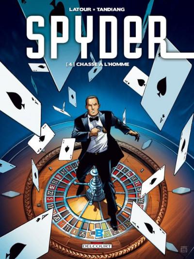 Couverture Spyder tome 4 - chasse à l'homme
