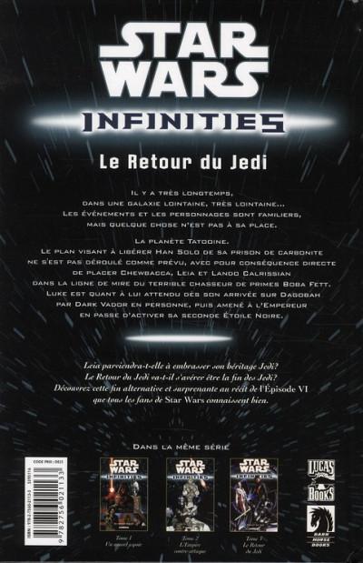 Dos star wars infinities tome 3 - le retour du jedi