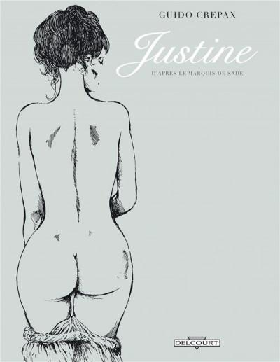Couverture Justine, d'après le marquis de sade