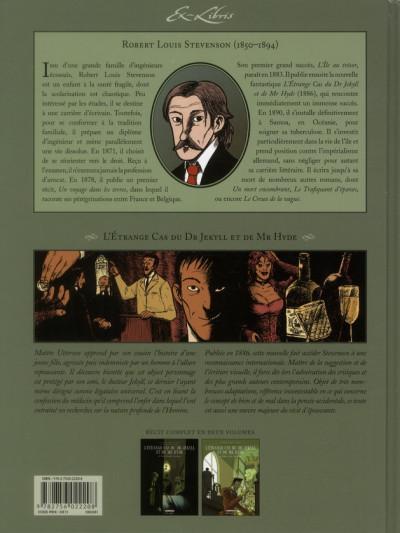 Dos l'étrange cas du Dr Jekyll et de Mr Hyde tome 2
