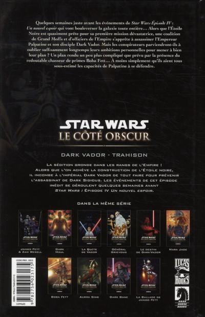 Dos star wars - le côté obscur tome 11 - dark vador trahison