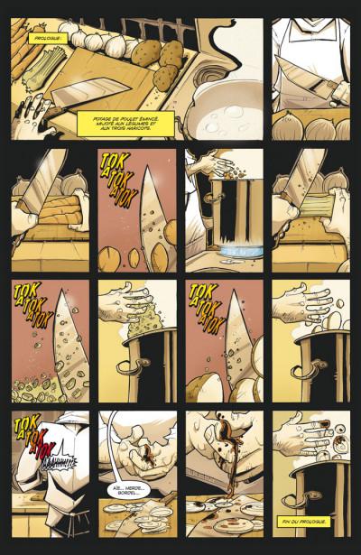 Page 1 Tony Chu, détective cannibale tome 1 - goût décés