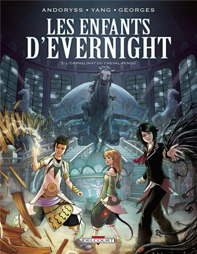 Couverture les enfants d'Evernight tome 2 - l'orphelinat du cheval pendu